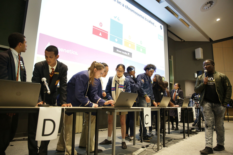 The finals of the quiz competition in Life Sciences drew grade 12 learners from 39 schools across Cape Town to UCT.