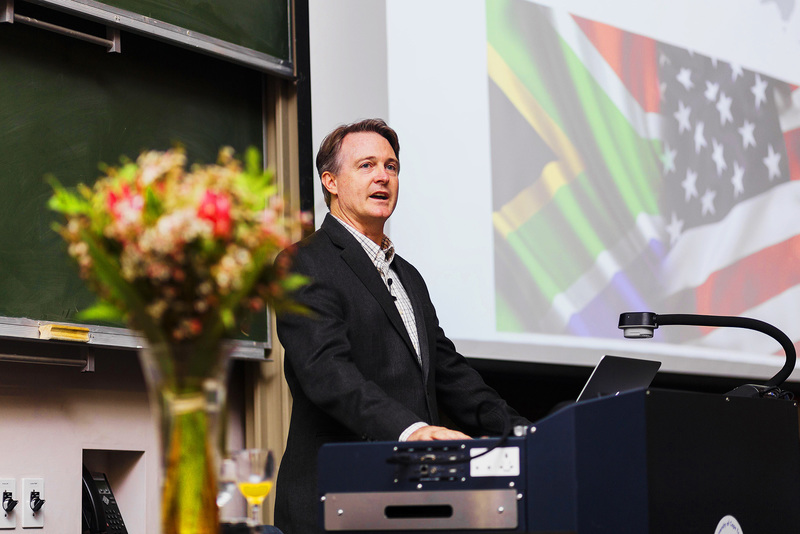 "UCT alumnus Prof Frank Slack presents his lecture, ""Our smallest genes and cancer – prospects for personalised medicine"" on 18 October, as part of the Faculty of Science's Distinguished Alumni Lecture Series."