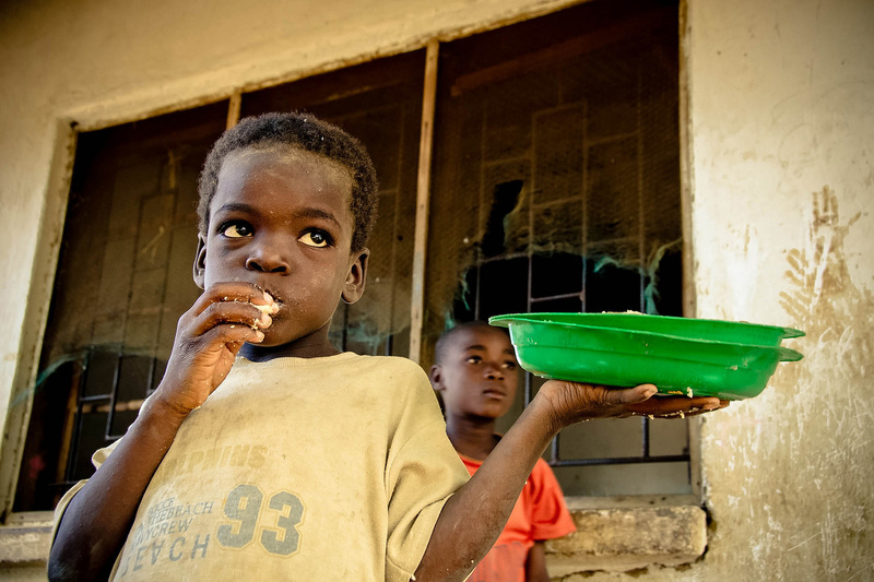"More than 6&nbsp;million South African children regularly go hungry, living below the food poverty line in families that cannot provide even the minimum amount of nutrition they need to thrive and survive. <b>Photo</b> <a href=""https://www.flickr.com/photos/fmsc/7456355708/"" target=""_blank"" rel=""noopener"">FMSC, Flickr</a>."