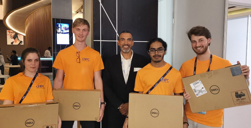 (From left) Clara Stassen, Stefan Schröder, Marc Layne (Dell), Jehan Singh and Dillon Heald.