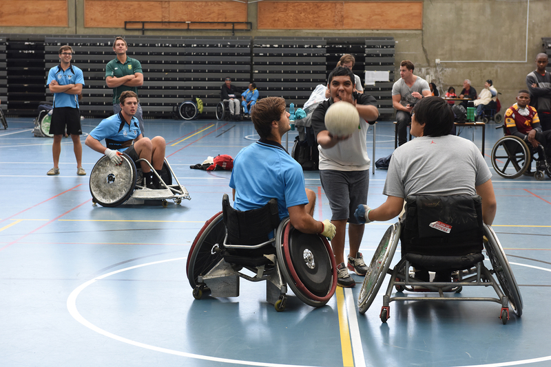 Students and staff are invited to enter a team for Saturday's Wheelchair Rugby Tournament, which is open to everyone.