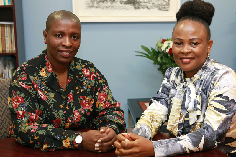 UCT Ombud Zetu Makamandela-Mguqulwa (left) and Public Protector Adv Busisiwe Mkhwebane following their recent meeting to formalise a relationship between the two offices.