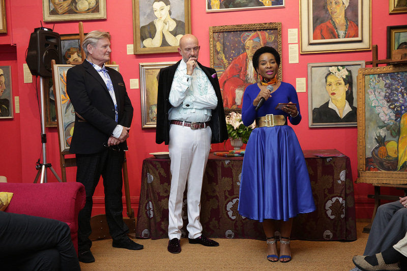 VC, professor Mamokgethi Phakeng launched the Stern on Silk exhibition at the Irma Stern Museum last night. Designer, Louis Jansen van Vuuren (left) and museum director, Christopher Peter (centre) looks on.