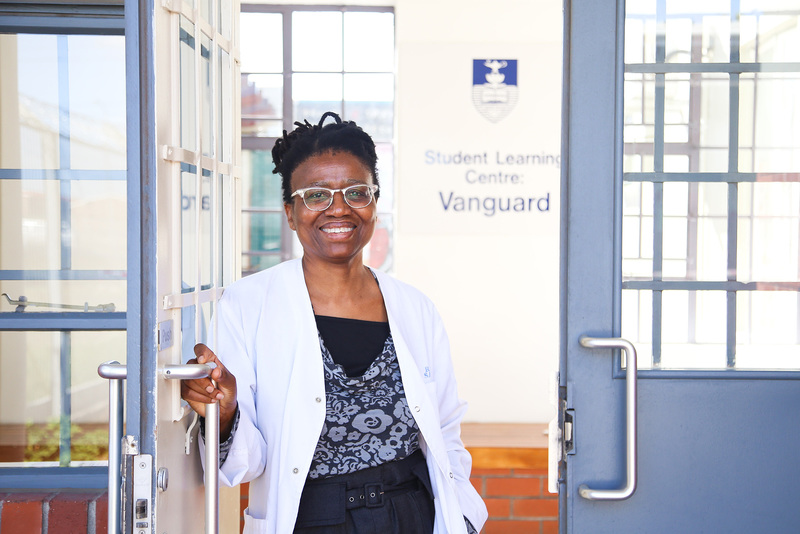 Dr Mosedi Namane, winner of the 2018 Premier's Award for Service and a Next Generation Professoriate (NGP) member, at the UCT Learning Centre in Bonteheuwel.
