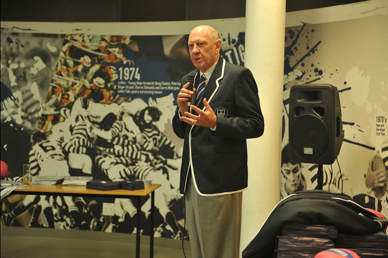 UCT alumnus and former Coca-Cola chief executive Neville Isdell at the launch of the university's Neville Isdell Rugby Centre in 2014.