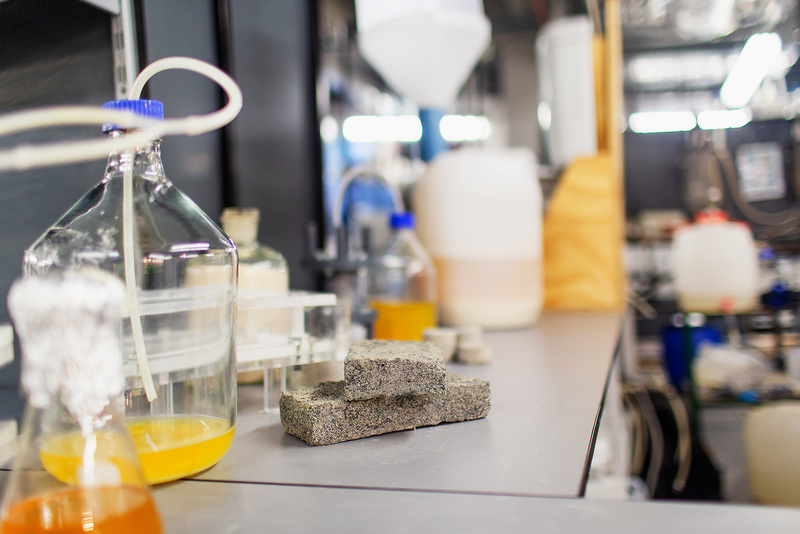 Dr Dyllon Randall&rsquo;s project is investigating the upcycling of human urine into useful products such as water and fertilisers. <b>Photo</b> Robyn Walker.