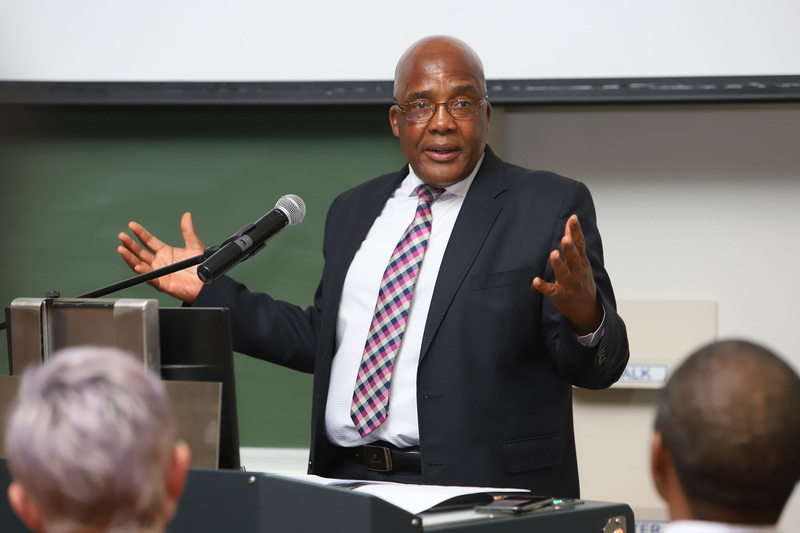Health minister Dr Aaron Motsoaledi delivered the third annual Steve Lawn Memorial Lecture at UCT.