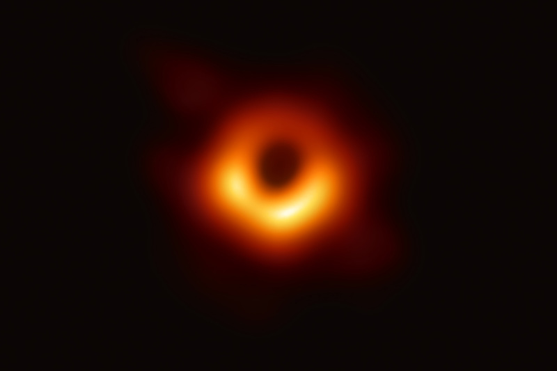Scientists have released an image of a massive black hole, Messier 87 in the Virgo Galaxy, 55 million light years from Earth, with a mass 6.5 billion times that of the Sun.