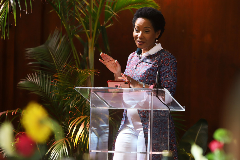 VC Prof Mamokgethi Phakeng addresses PhD graduands, graduates and other distinguished guests at a special Graduation Lunch on Monday, 15 April.