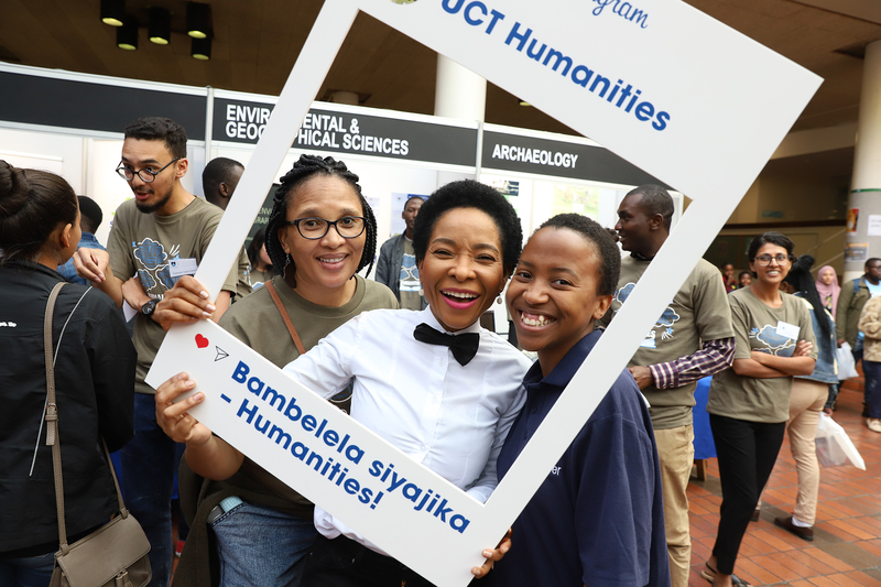 VC Prof Mamokgethi Phakeng gets into the selfie frame with prospective UCT students who she said should want to come to UCT not only because it is the best university in Africa, but also for Africa.