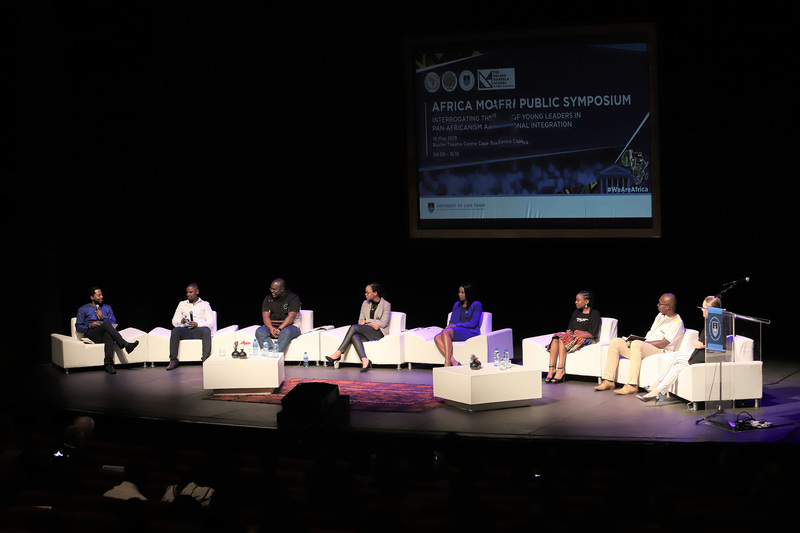 A panel of academic experts discuss African integration and the free movement of people during the Africa Day Symposium at the Baxter Theatre on Friday, 10 May.