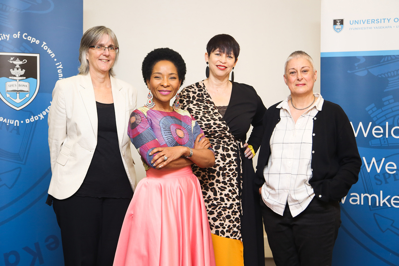 UCT's all-women executive academic leadership (from left) Prof Sue Harrison (DVC for Research and Internationalisation), VC Prof Mamokgethi Phakeng, Prof Loretta Feris (DVC for Transformation) and Prof Lis Lange (DVC for Teaching and Learning).