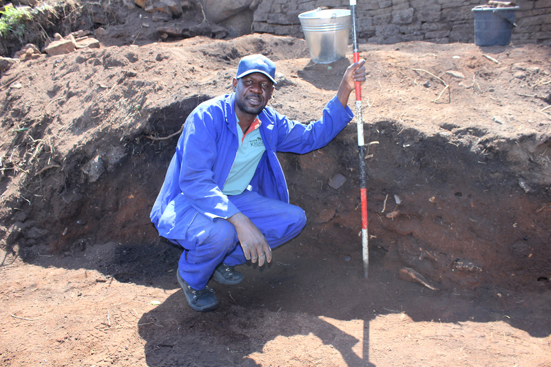 Prof Shadreck Chirikure at work at Great Zimbabwe, the topic of two prize-winning research papers in Antiquity. <b>Photo</b>&nbsp;Supplied.