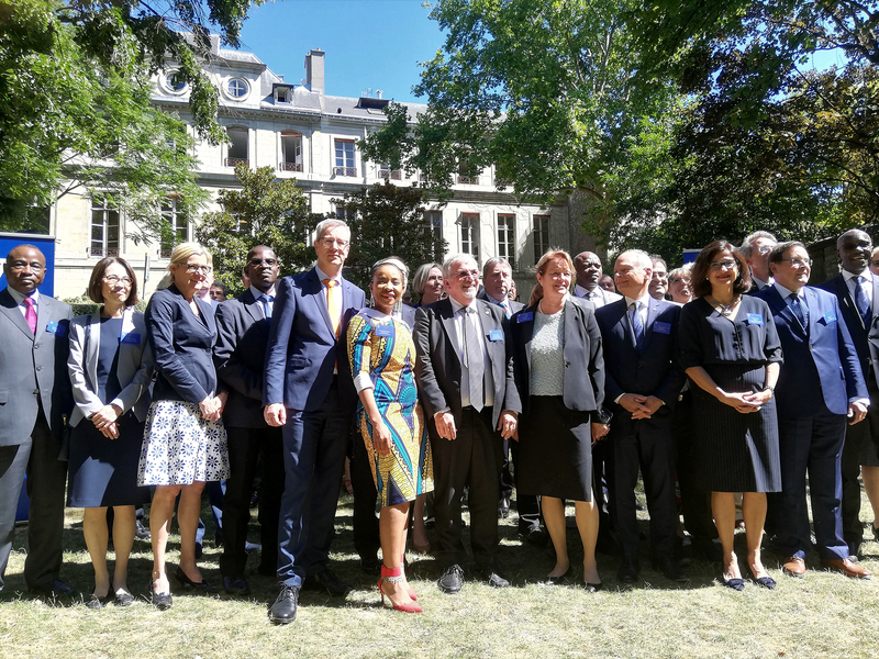 UCT VC Prof Mamokgethi Phakeng with the other university heads who attended the inaugural U7+ Alliance Summit on 10 July in Paris.