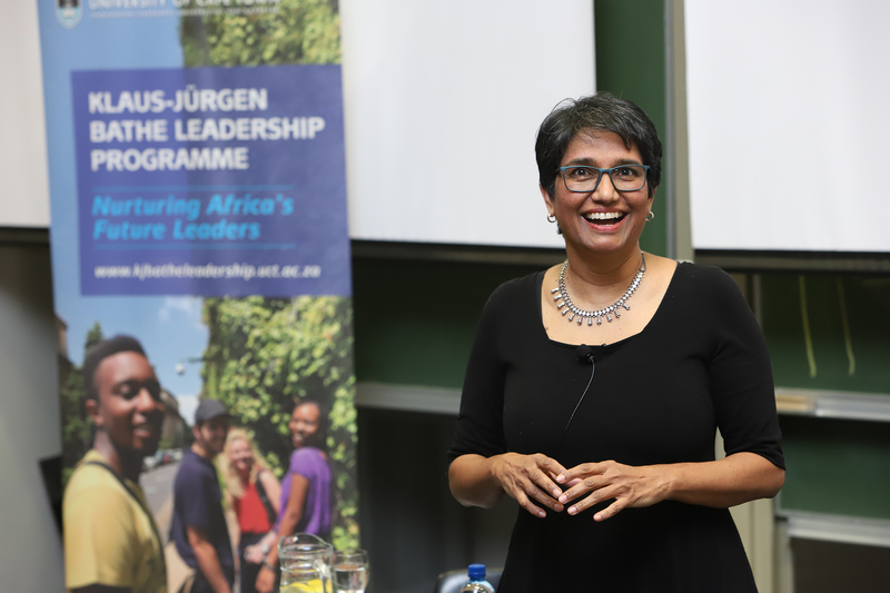 Feminist and human rights activist Pregs Govender delivers the Klaus-Jürgen Bathe (KJB) Inaugural Leadership Lecture on 1 August, the first of a series of UCT events to mark Women's Month.