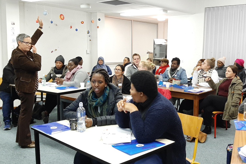 Newly-qualified teachers enjoying one of the sessions during the Winter School programme.
