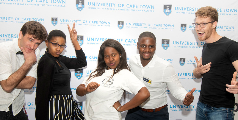 UCT's top entrepreneurs. They are (from left) Denislav Marinov from DVM Designs, Lungile Macuacua from LabV, Vuako Khosa from Changing Lives Shoe Laundry, Mvelo Hlophe from Zaio and Tamir Shklaz from Quillo.