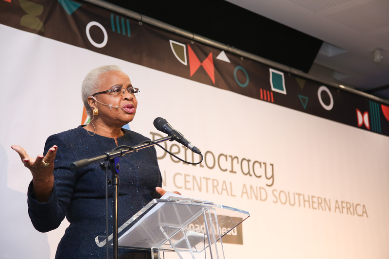 UCT chancellor, Mrs Graça Machel, says democracy in Central and Southern Africa faces serious challenges.