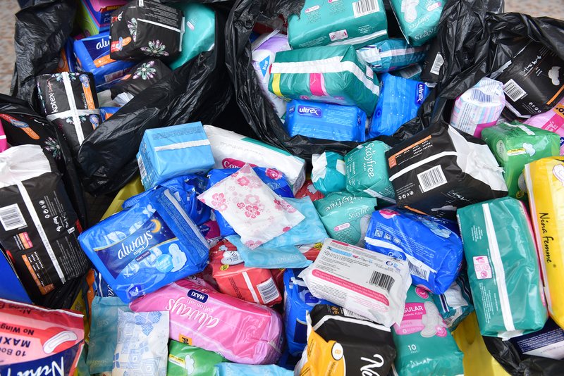 Over 1 000 sanitary products were collected by the UCT Communication and Marketing Department and Zwaanswyk High School.