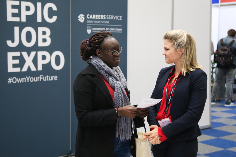 "UCT Careers Service is up for two awards, including in the ""Best Career Fair"" category for the Epic Job Expo."