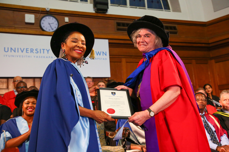 Prof Belfort received her honorary doctorate during the Faculty of Commerce graduation ceremony that took place at 14:00 on Friday, 13 December 2019.