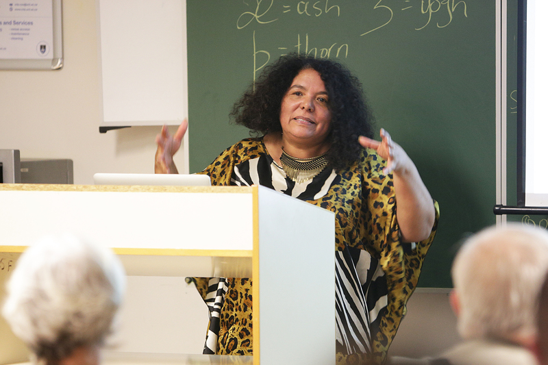 Dr June Bam-Hutchison (in picture) and Bradley van Sitters, recent praise singer at the 2019 State of the Nation Address, will be presenting  'Rethinking Africa: the case of Khoekhoegowab', one of two Summer School 2020 courses on Khoekhoegowab, which has been adopted as UCT's fourth language.