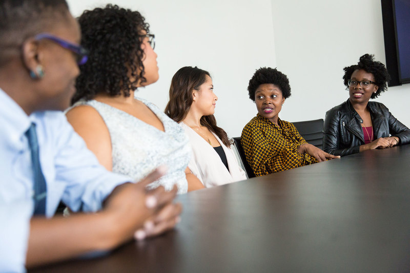 "The Think Spaces will run throughout the year and will provide a safe space for discussion around issues of transformation, inclusion and diversity. <strong>Photo</strong> <a href=""https://www.pexels.com/photo/four-women-and-one-man-sitting-near-table-inside-room-1181736/"" target=""_blank"">Pexels</a>."