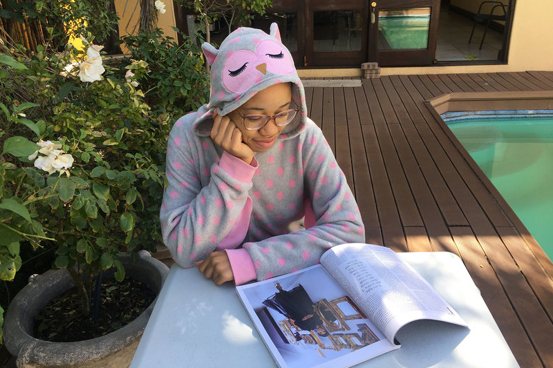 In love with my onesie PJs – tax honours student Thato Mgoboli writes from Kimberley where she is holed up with her family during lockdown.