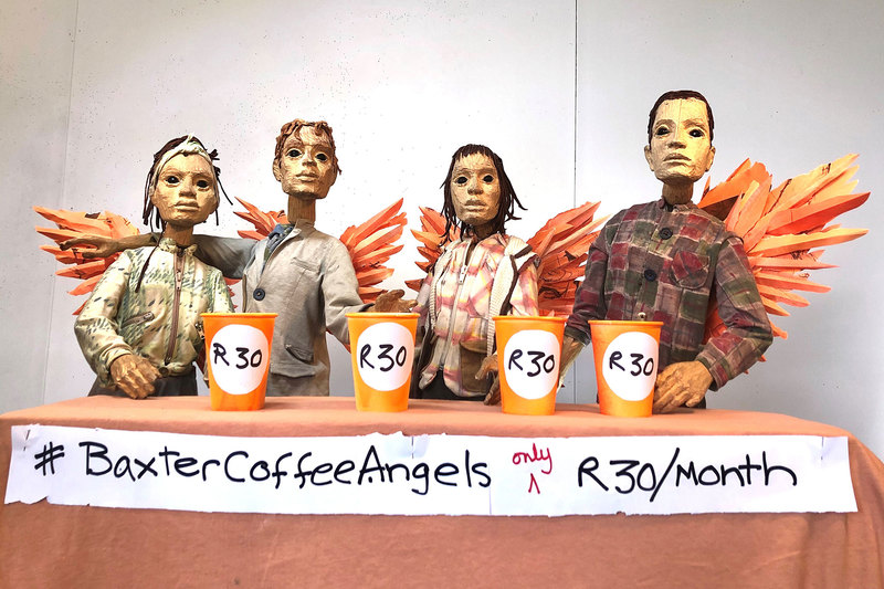 Theatre-goers can buy the Baxter a cup of coffee every month, thereby contributing R360 per year per person to ensure its sustainability.