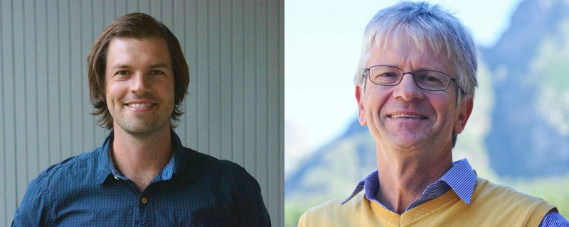 Dr Christopher Trisos (left) and Prof Harald Winkler (right) are both associates of UCT's African Climate & Development Initiative. <b>Photos</b> Andrea Koris / Supplied.