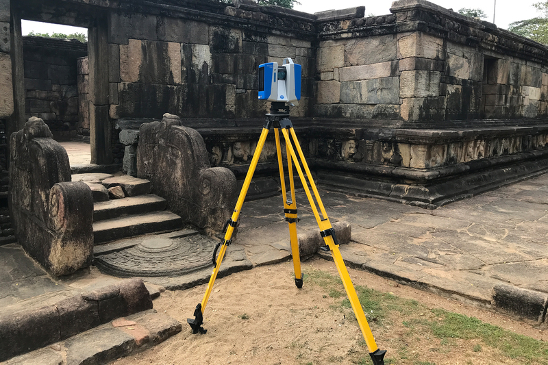 The Zamani Project team's laser scanner from Zoller & Fröhlich records highly accurate representations of heritage sites.