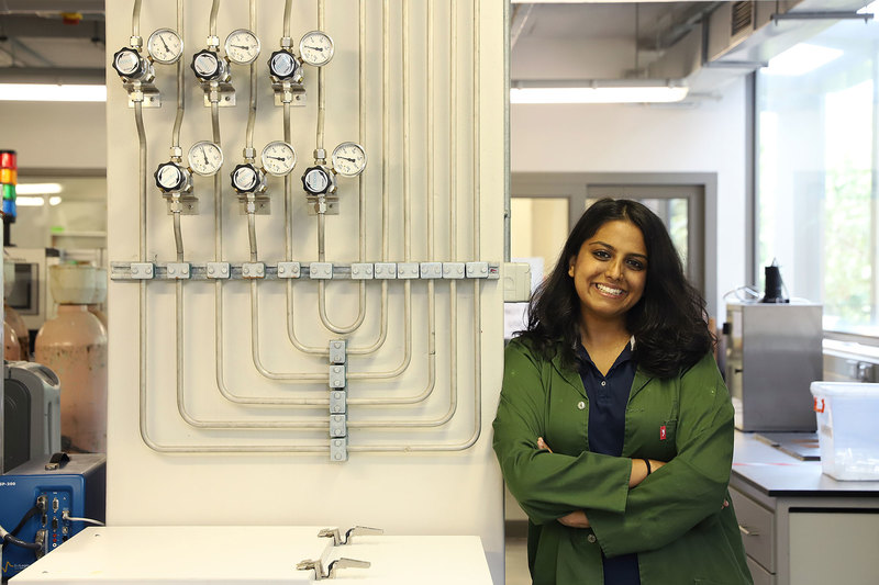 Ziba Rajan will be the first master's graduate from UCT's Electrolyser Research Group. She will graduate cum laude. She is among 779 master's students who are graduating from UCT this month.