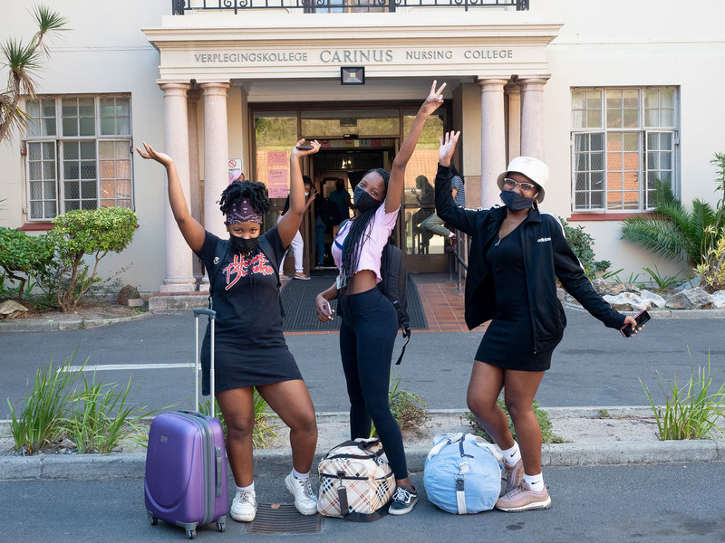 UCT students said that they are happy to be back on campus. <b>Photo</b> Jean Claude Nsabimana.