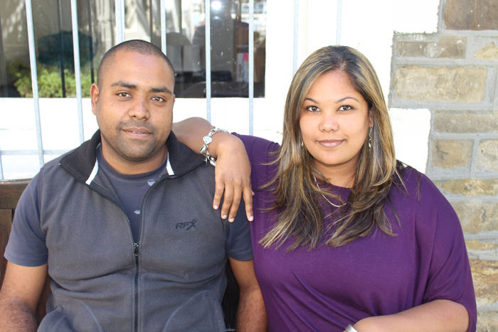 Ameera Safter and her business partner and husband, Tauriq.