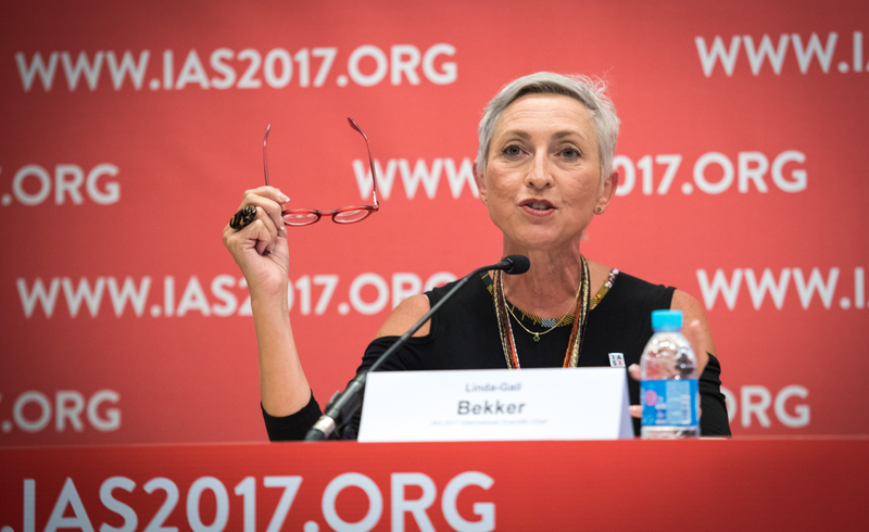 Prof Linda-Gail Bekker at the International AIDS Symposium (IAS) Conference 2017.