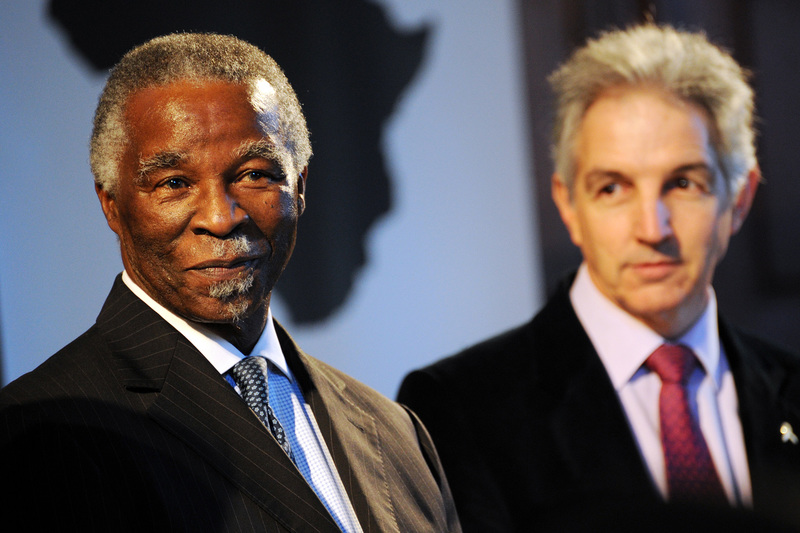 Agents of change: Speaking at the inaugural African Student Leaders' Summit, former president Thabo Mbeki - photographed with vice-chancellor Dr Max Price - urged students to play their role in the renaissance of Africa.