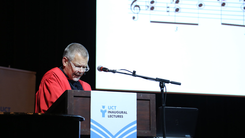 Prof Hendrik Hofmeyr from the South African College of Music demystifies the process of composing by explaining how he used a poem by WB Yeats as the inspiration for a symphonic tone poem for orchestra and voice. Photo by Je'nine May.