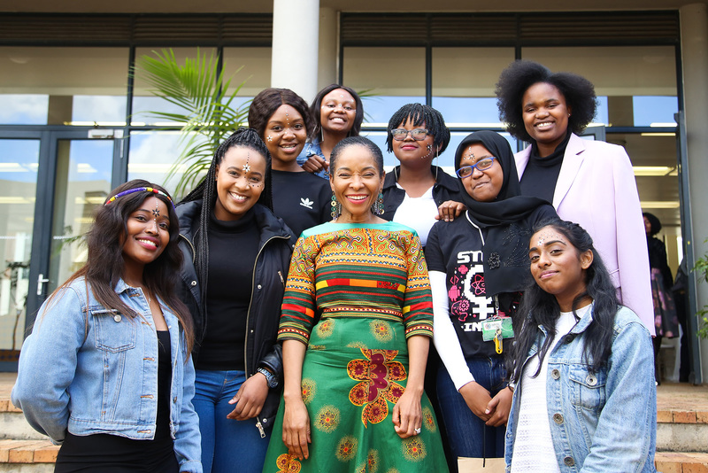 The VC celebrated National Women's Day on 8 August with students from Graça Machel Hall. The theme for the lunch event was raising up African women in academia and in leadership roles.