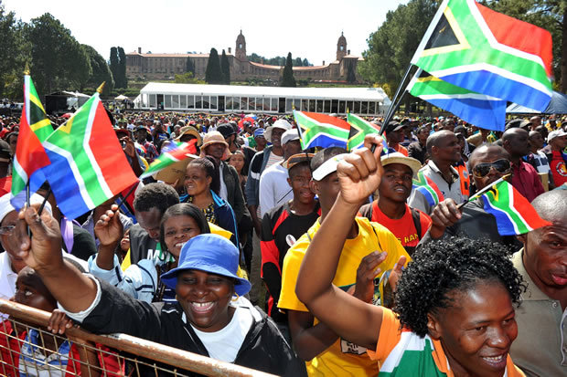 "Freedom Day celebrations at the Union Buildings in Pretoria. (Credit: <a href=""https://www.flickr.com/photos/governmentza/14060591495/in/photostream/"" target=""_black"">GCIS</a>)"