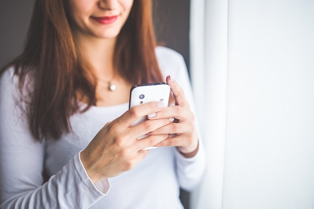 "Sexting is a co-authored, negotiated experience that can empower young people. (Photo by <a href=""https://www.pexels.com/photo/close-up-portrait-of-a-young-woman-typing-a-text-message-on-mobile-phone-6400/"" target=""_blank"">Pexels</a>)."