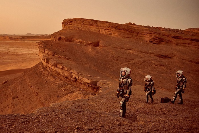 A scene from the TV mini-series, 'Mars'. Photo: National Geographic