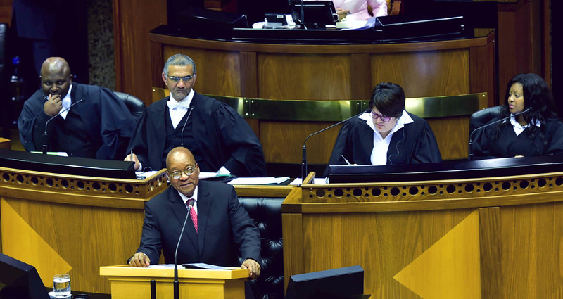 "President Jacob Zuma responding to questions for Oral Reply in the National Assembly in Parliament, Cape Town. Image:&nbsp;GCIS (<a href=""https://creativecommons.org/licenses/by-nd/2.0/"" target=""_blank"" style=""font-weight: normal;"">CC BY-ND 2.0</a>)."
