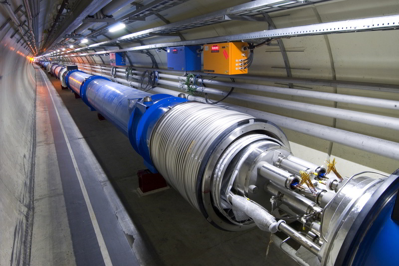 The Large Hadron Collider at CERN in Europe is the world's largest and most powerful particle accelerator.