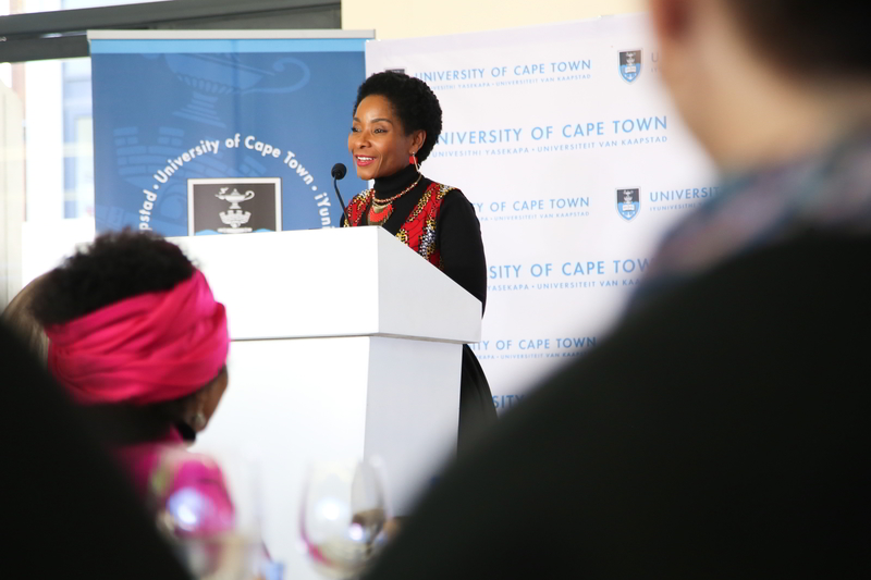 UCT VC Professor Mamokgethi Phakeng launched the new scholarships at the UCT 2018 National Women's Day event.