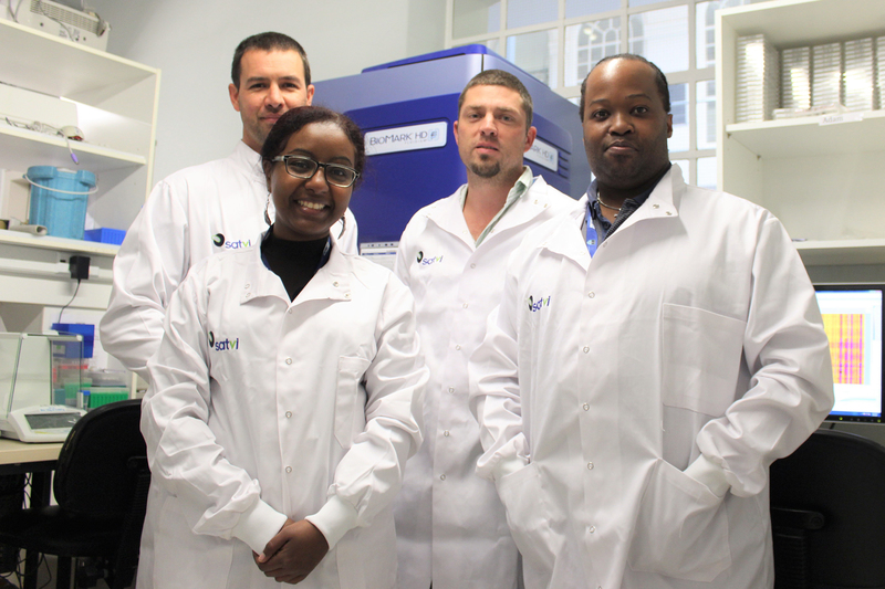 The UCT research team developing the new TB test, RISK6 (from left to right): Dr Adam Penn-Nicholson, Dr Sara Suliman, Professor Thomas Scriba and Dr Mzwandile Erasmus.