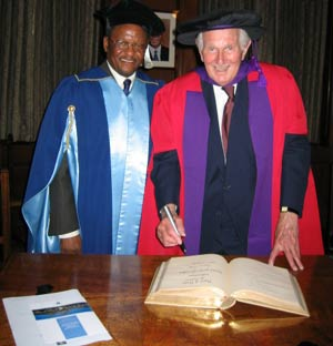 Prof Ndebele and Lord Wolfson