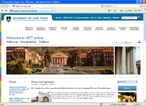 UCT website