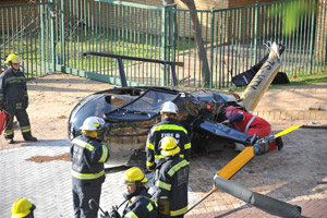 Helicopter in emergency landing at UCT
