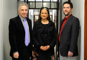 Dr Max Price Ferial Haffajee and Jacques Rousseau