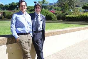 Assoc Prof Landon Myer (left) and Prof Dan Stein